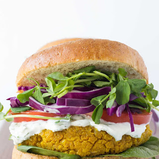 Curried Chickpea Burgers.