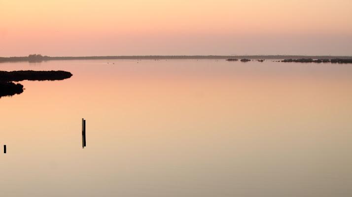 la quiete della laguna all 'imbrunire ! di ottavioart