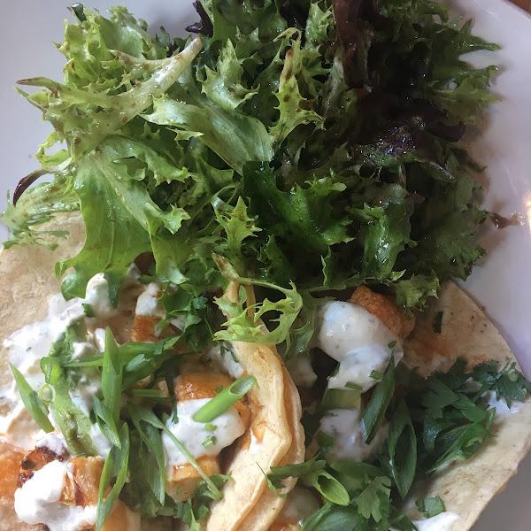 Buffalo Cauliflower Tacos - SO good!