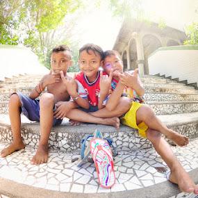 Our Gadgets (Sandals) by Muhammad Fadhil - Babies & Children Child Portraits