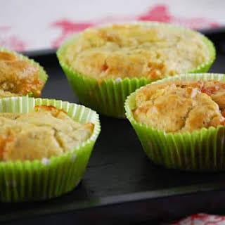 Pesto and Mozzarella Muffins.