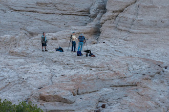 Photo: Photo Club members waiting for the full moon to show; Plaza Blanca, Abiquiu, New Mexico