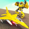 Air Jet Robot Transform : Robot Shooting Game icon