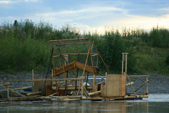Photo: Yukon River. Fishwheel