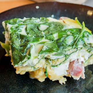 Slow Cooker Spinach and Ham Fritatta