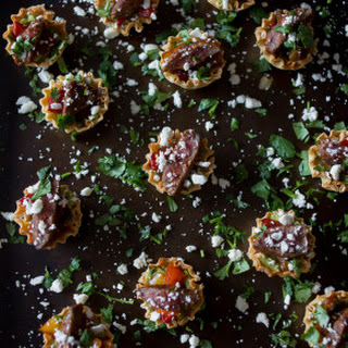 Mini Steak Fajita Phyllo Bites