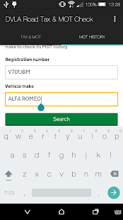 DVLA Road Tax & MOT Check- screenshot thumbnail