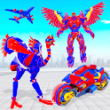 Flying Ostrich Robot Transform Bike Robot Games icon