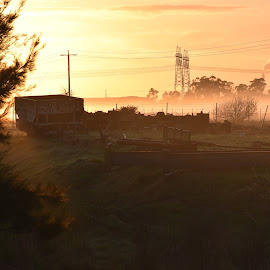 Rural Industry Abandoned at Dawn by Jordan Parsons - Novices Only Landscapes