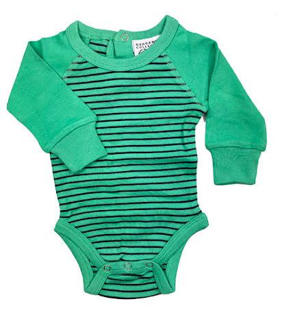 Geggamoja Body LS Green/Marin Stripe