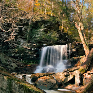 Autum Sun on B Reynolds Falls 8X10 MG_4729.JPG