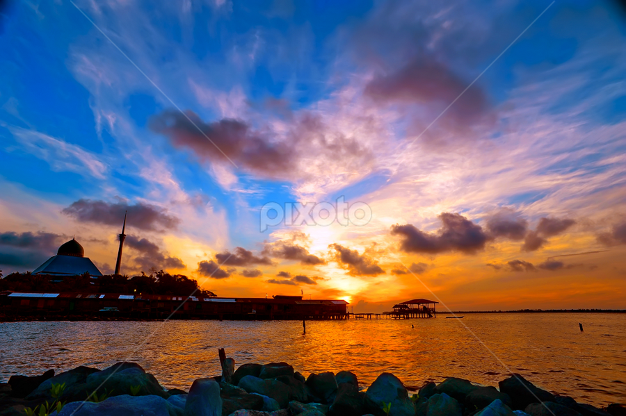 a beautiful morning in the Sandakan Bay by Armie YS Yusop Teppo - Landscapes Sunsets & Sunrises