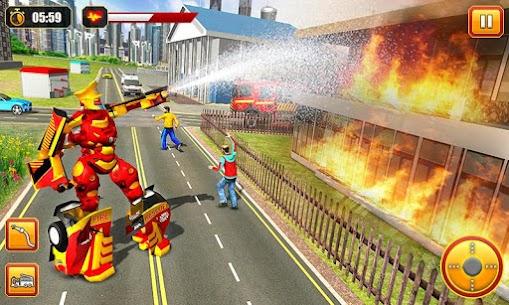 Firefighter Robot Transform Truck: Rescue Hero 4