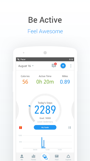 Pedometer, Step Counter & Weight Loss Tracker App screenshot