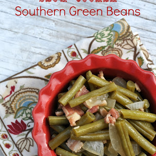 Slow Cooker Southern Green Beans.