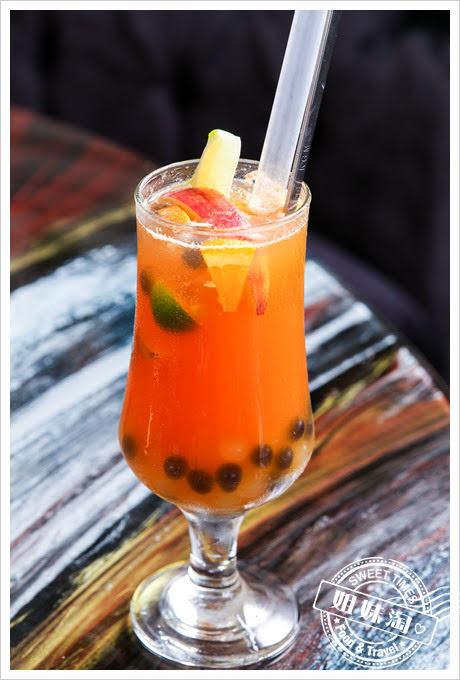 蒙娜麗莎海鮮鍋物分子水果茶
