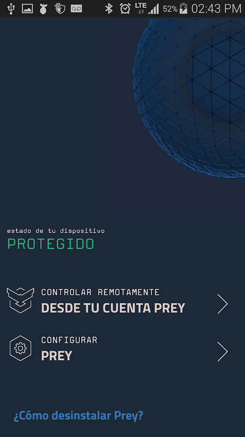Prey Anti Robos: captura de pantalla