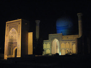 Photo: Timur mausoleum by night