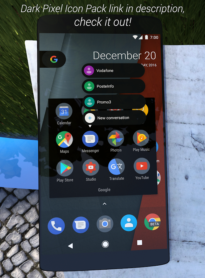 Stock/Pixel Black Substratum Theme [+Samsung] APK Cracked