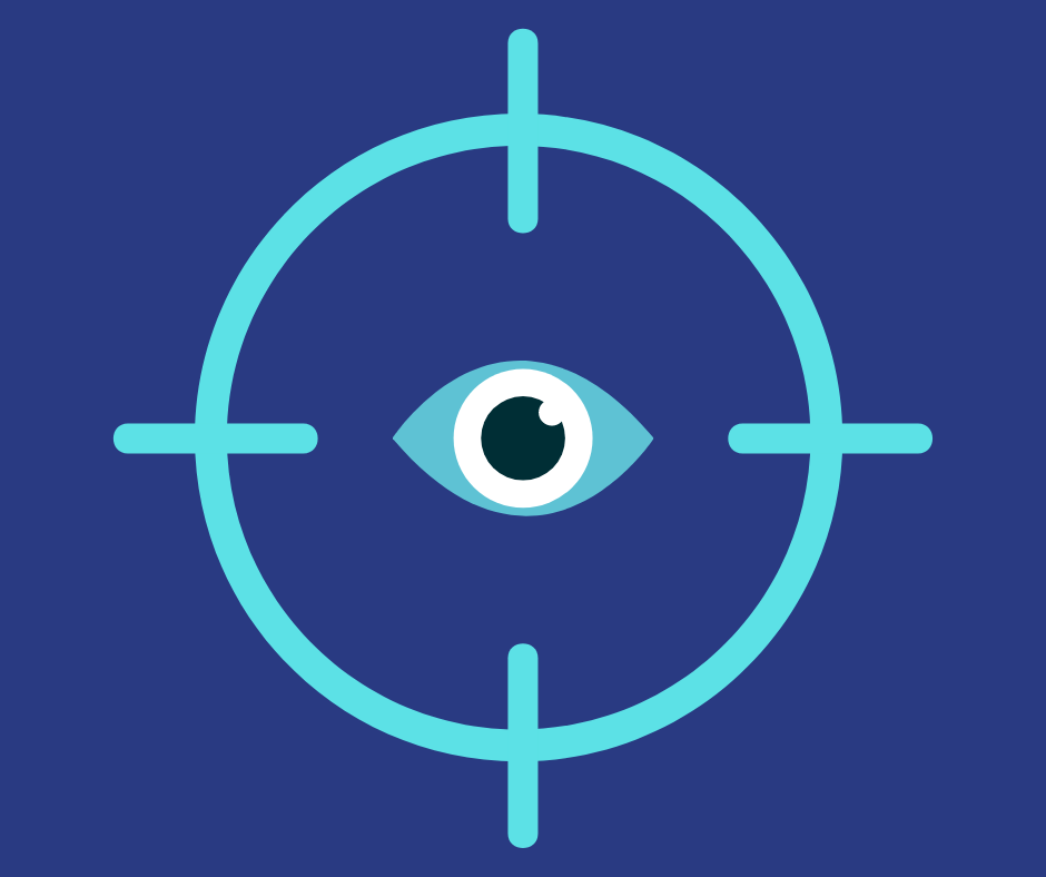 A target on an eye.