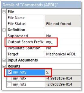 ANSYS Задание значения переменной в качестве параметра Workbench