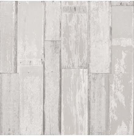 Christiana Masi Hashtag 5626 Tapet med skruvad rustik träpanel, Ljusgrå