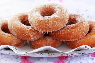 Photo: closeup of a pile of rosquillas, typical spanish donuts