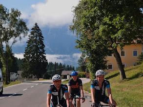 Photo: Rene, Ton en Joost bovenop de Iselsberg.