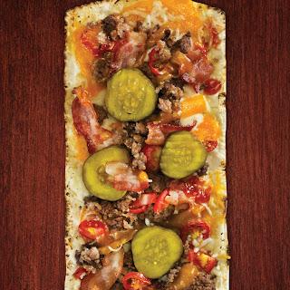 Thin Crust Hamburger Pizza