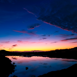 by Keith Sutherland - Landscapes Sunsets & Sunrises ( sky, canada, reflection, rural, clouds, evening, lake )