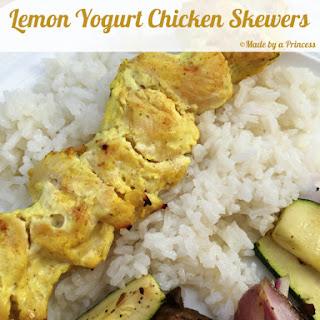 Lemon Yogurt Chicken Skewers