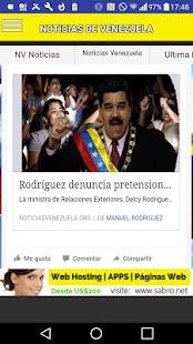 Noticias de Venezuela Siticias - náhled