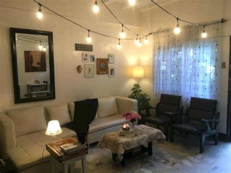 Image result for string lights living room