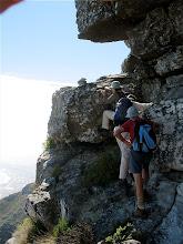 Photo: Awkward step up on Silverstream-Ledges traverse