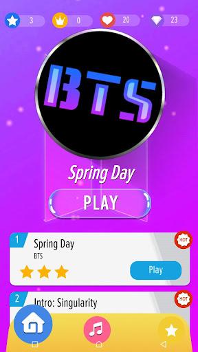 Magic Piano Tiles: BTS Kpop 🎹 1.1 screenshots 1
