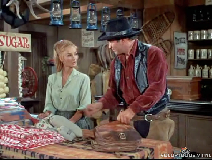 Barbara Bouchet and James Drury in The Virginian