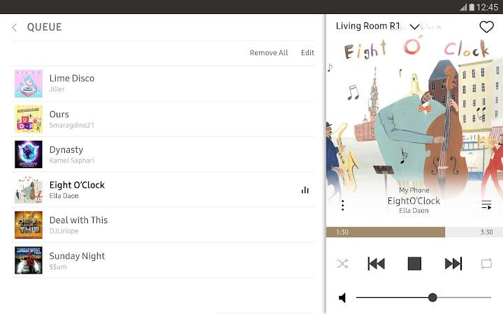 Wireless Audio-Multiroom (Tab) Android App Screenshot