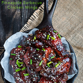 Slow Cooker Pineapple Barbecue Chicken Wings.