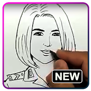 Face Drawing Step by Step by Design Ideas 2019 icon