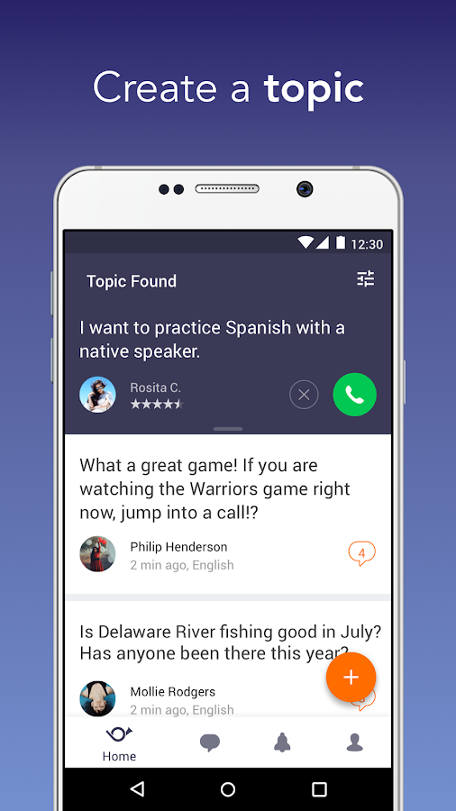 Wakie: Talk to Strangers, Chat- screenshot