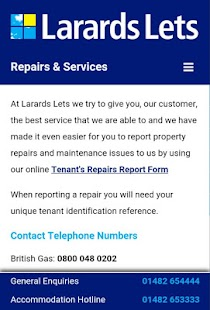 Larards Lets Guide for Tenants- screenshot thumbnail