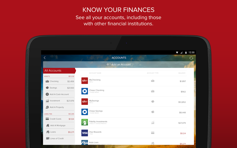 BECU Money Mgr.- screenshot
