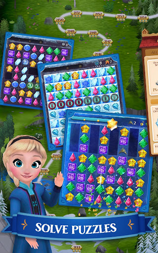Disney Frozen Free Fall - Play Frozen Puzzle Games filehippodl screenshot 1