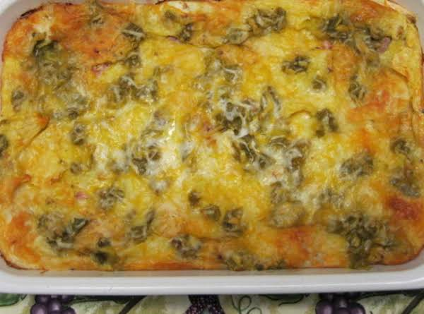 Tri-tortilla Southwest Breakfast Strata Recipe