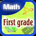 First grade math icon