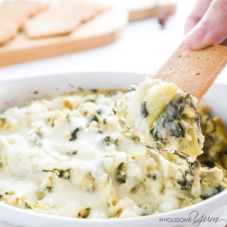 8-Ingredient Spinach Artichoke Dip (Low Carb, Gluten-Free) Recipe