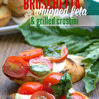 Whipped Feta and Grilled Crostini Bruschetta