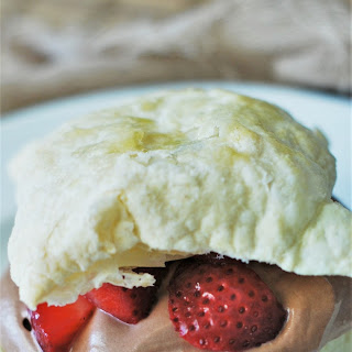 Strawberry Puff Pastry Sandwiches with Nutella Whipped Cream.