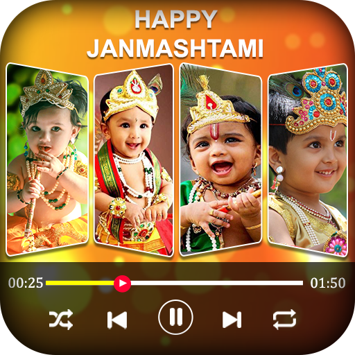 Janmashtami Video Maker - Music Slideshow Editor