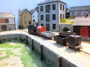 Photo: 019 A quayside scene as a Beyer Peacock tram loco shunts stock. The tide is out at the moment! .
